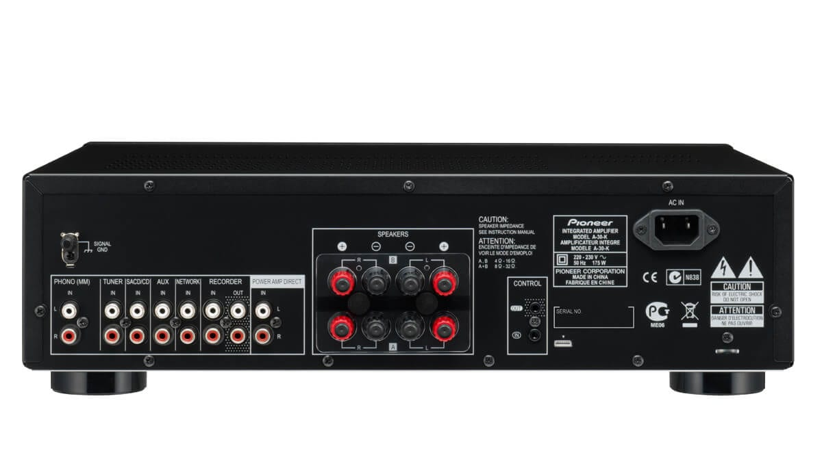 Hifi Rack Design Pioneer A-30 70w Stereo Amplifier With Direct Energy