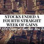 Another Record-Setting Week for the S&P 500 – Weekly Update for July 25, 2016