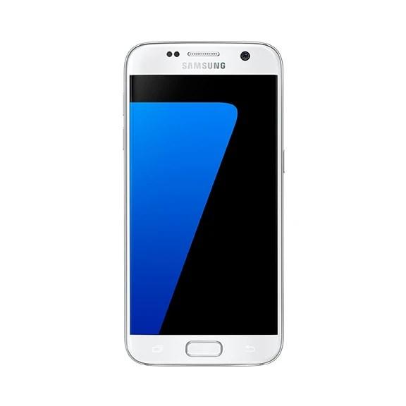 Samsung Galaxy S7 in white.