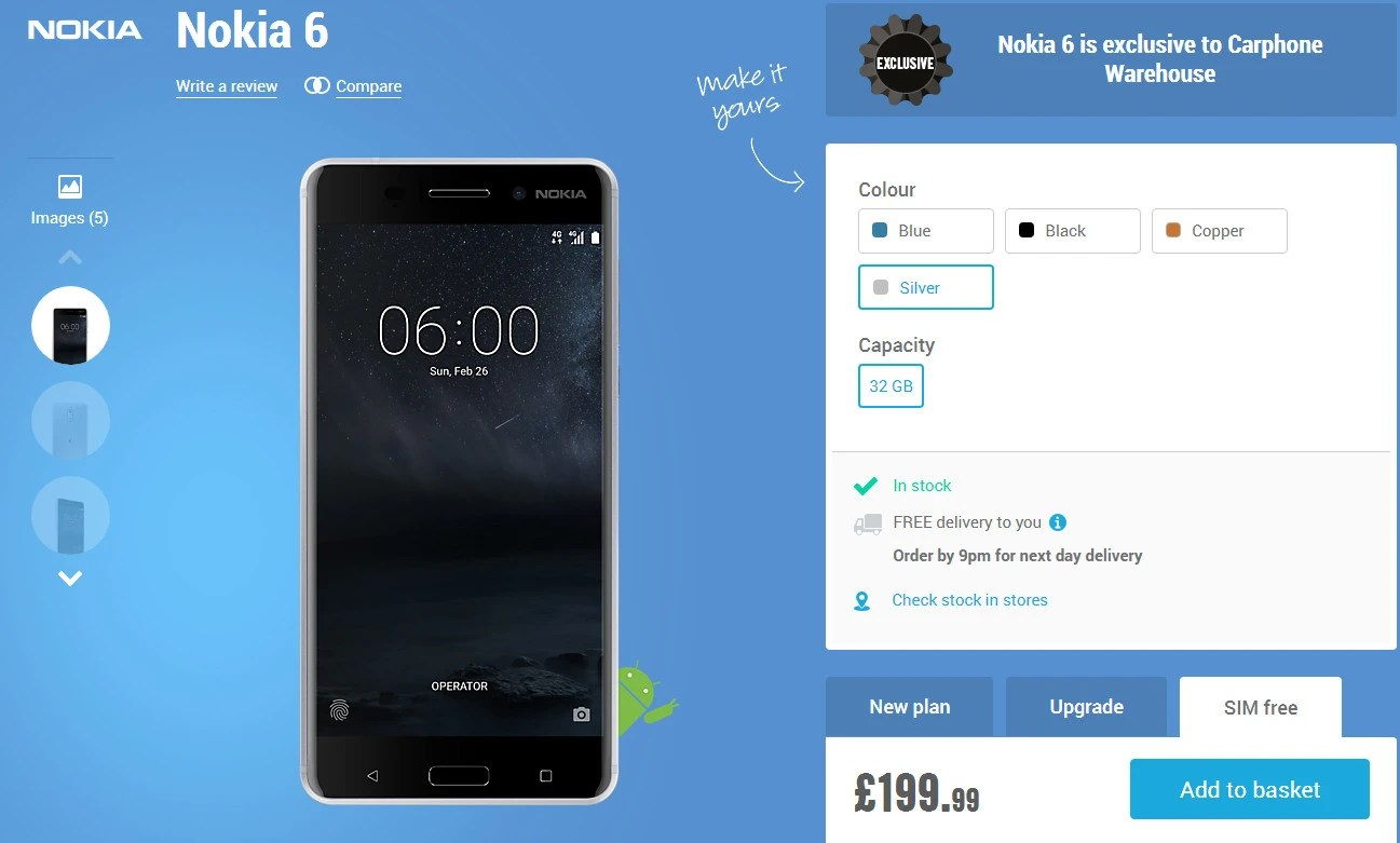 Nokia 6 Arte Black Video Nokia 6 Finally Hits The Shelves In The Uk Costs Less Than