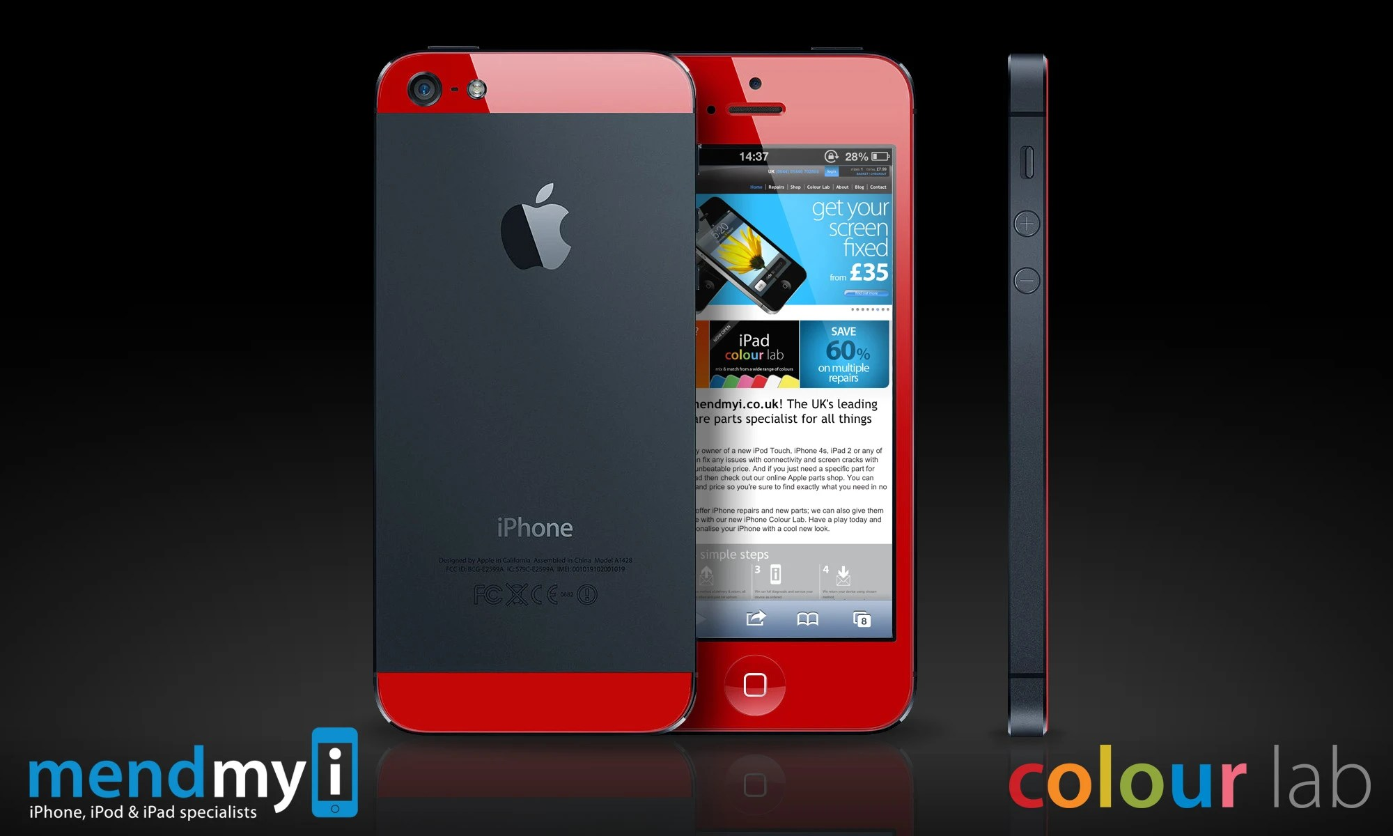 Iphone Product Red Wallpaper Here Is How To Get A Blue Red Or Pink Iphone 5