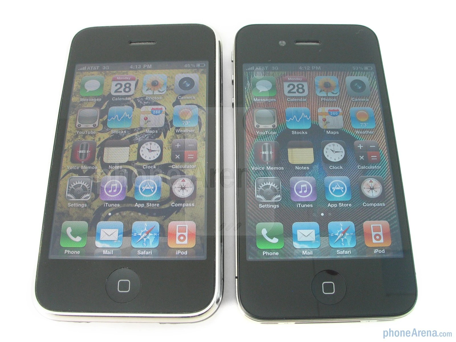Iphone 3gs Apple Iphone 4 Vs Iphone 3gs Side By Side Phonearena