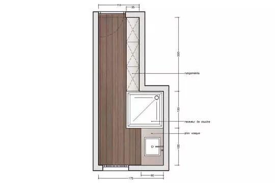 Mini salle du0027eau dans une chambre Small places, Studio and Small - idee plan maison en longueur