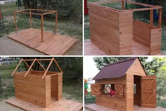 Cabane pour enfant en palettes 6m² cabane enfant palette Playhouse