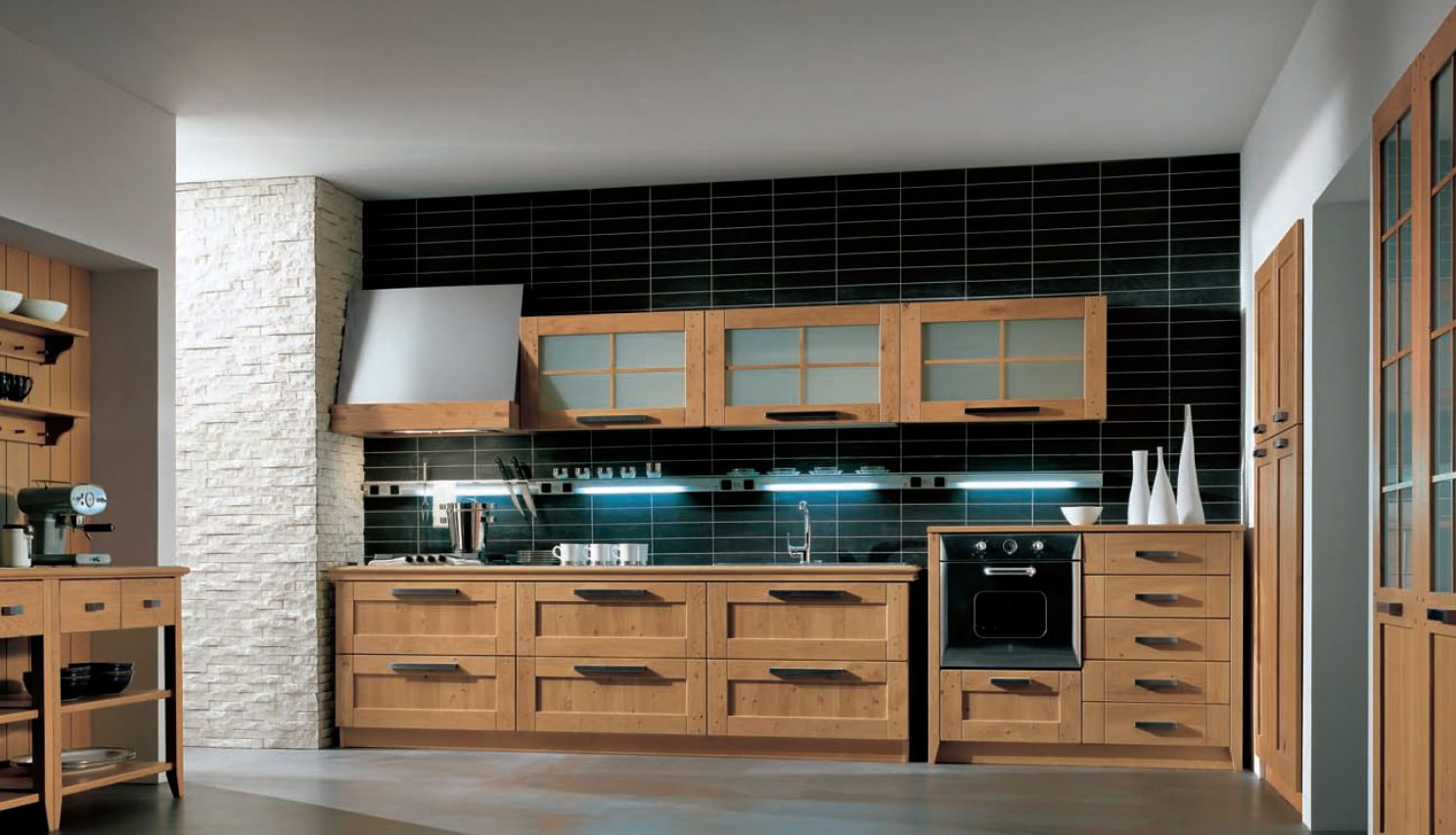Muebles De Cocina De Madera Modernos | Cocinas Modernas Con ...