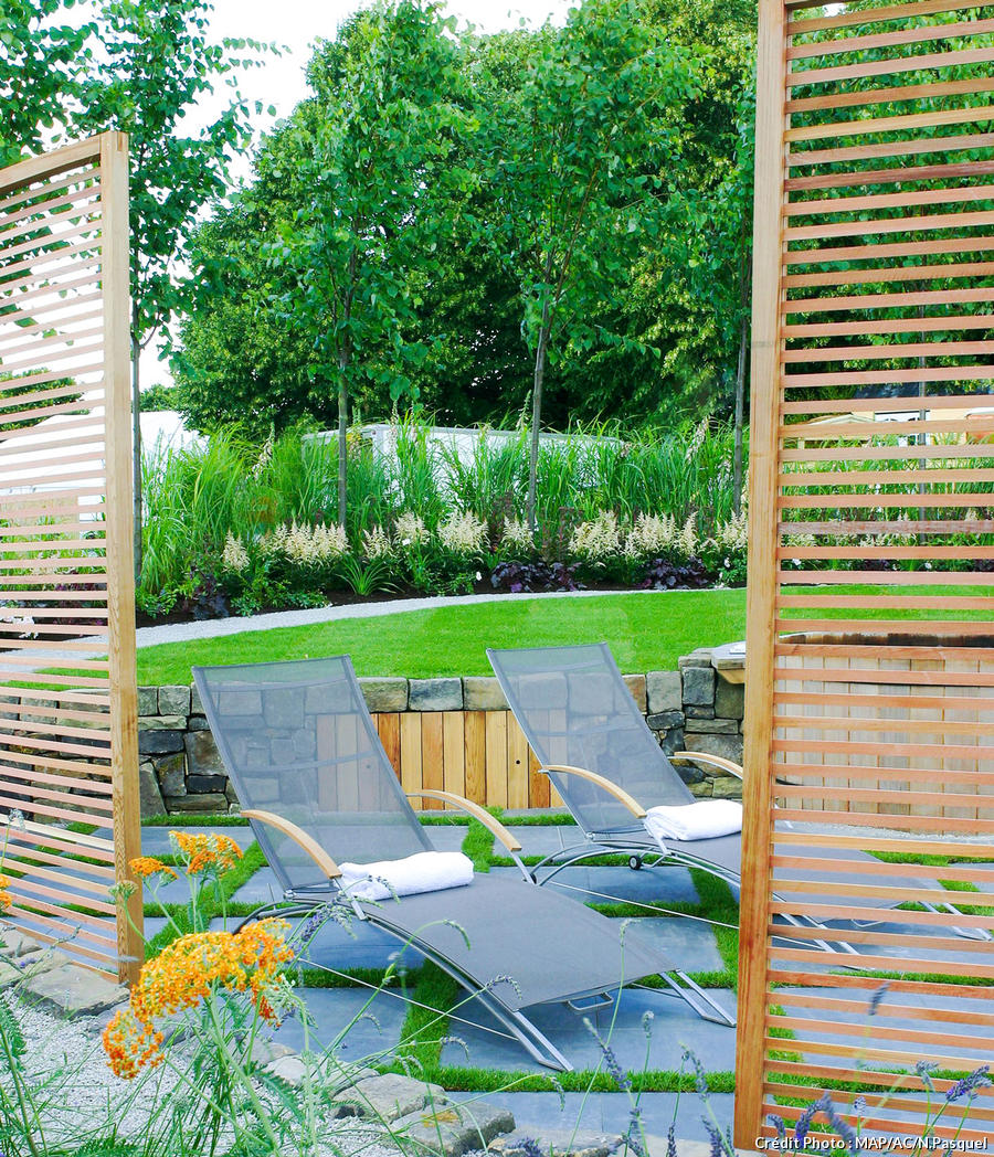 Brise Vue Jardin Trompe L\'oeil | Leroy Merlin Brise Vue Auch Luxe ...