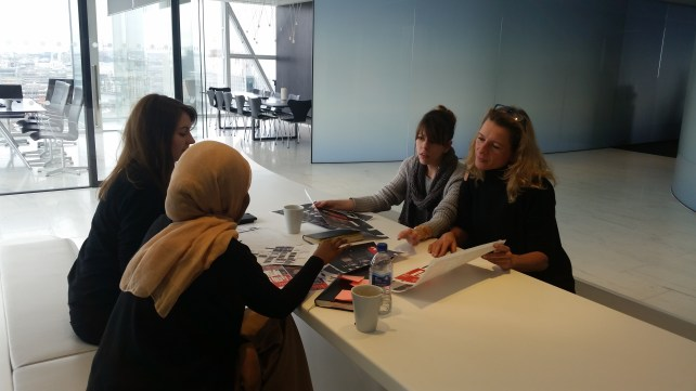 The team in a production meeting at Al Jazeera