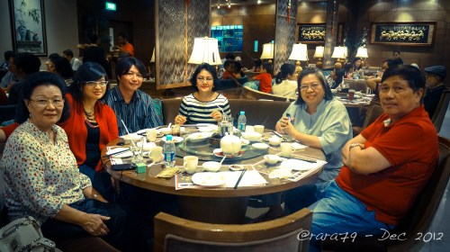 Family lunch on Christmas day (2012).