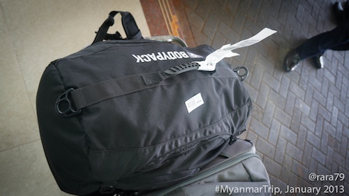 One backpack only for 5 days in Myanmar.