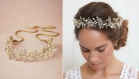 Buy Wholesale Luxury Beaded Crystal Hair Vine Pearl Gold ...