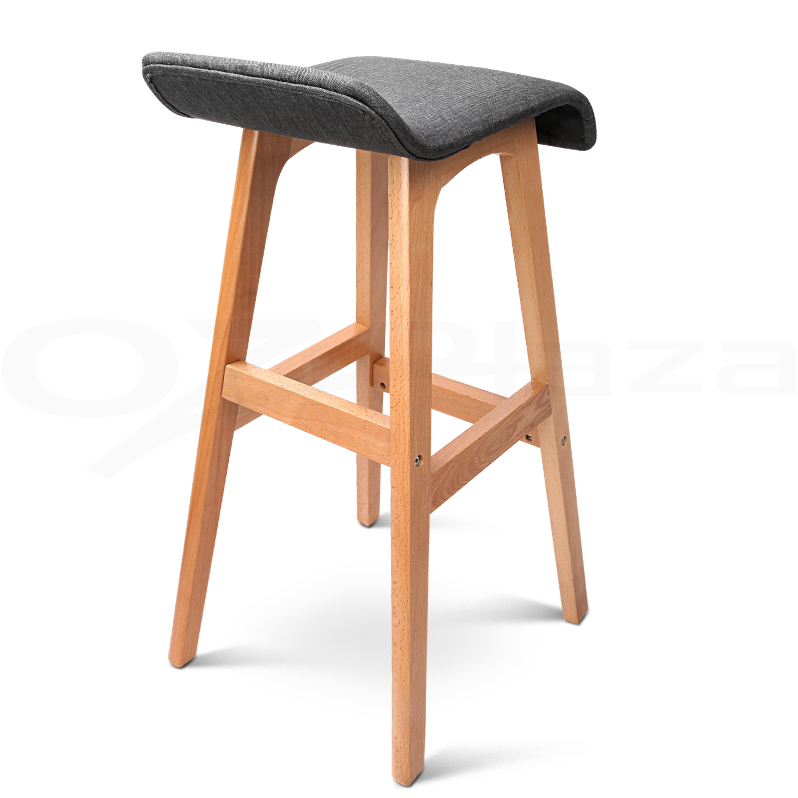 Wooden Kitchen Stools 2x Wooden Bar Stools Kitchen Barstool Fabric Foam Seat