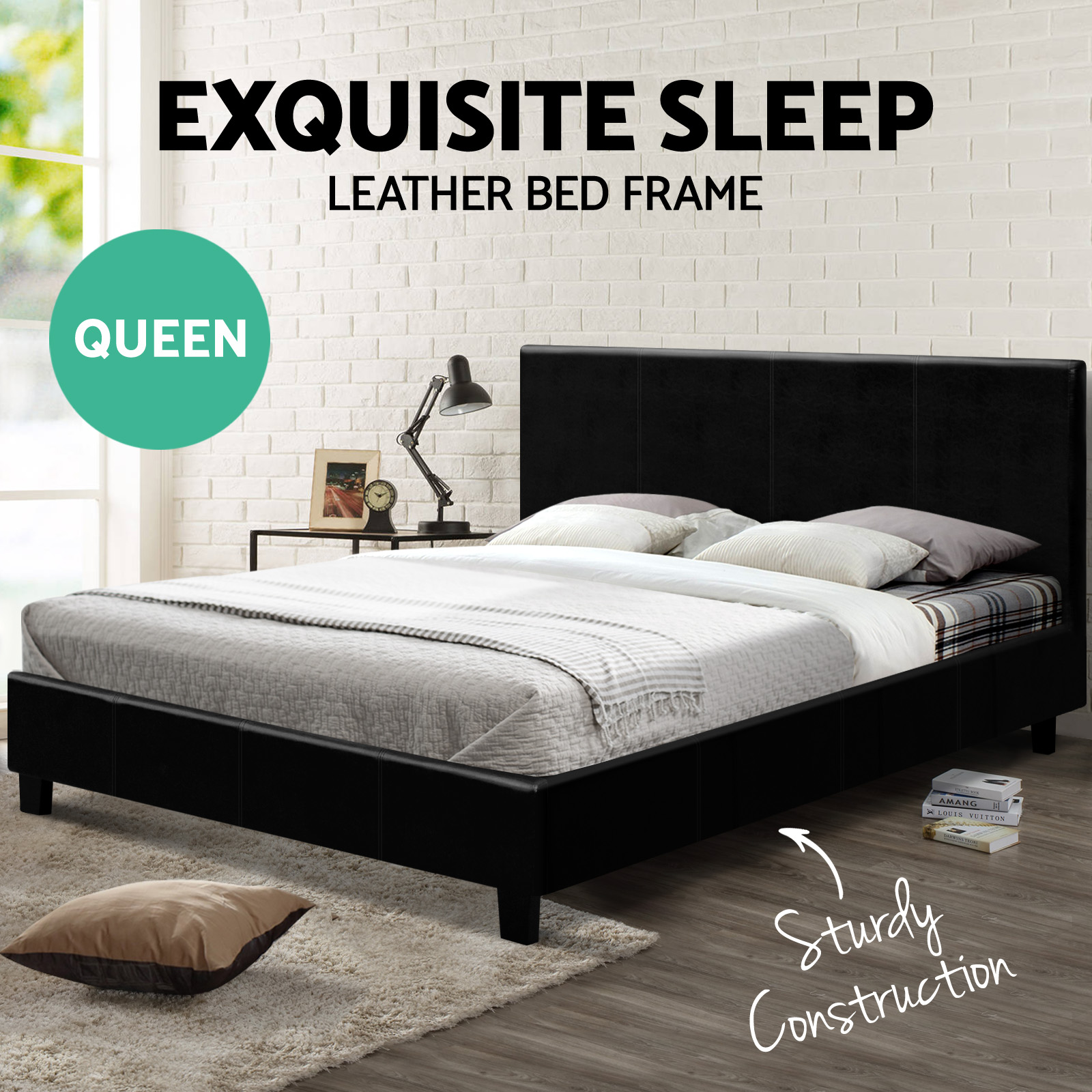 Gas Lift Storage Bed Frame Queen King Double Size Bed Frame Headboard Wooden Gas Lift