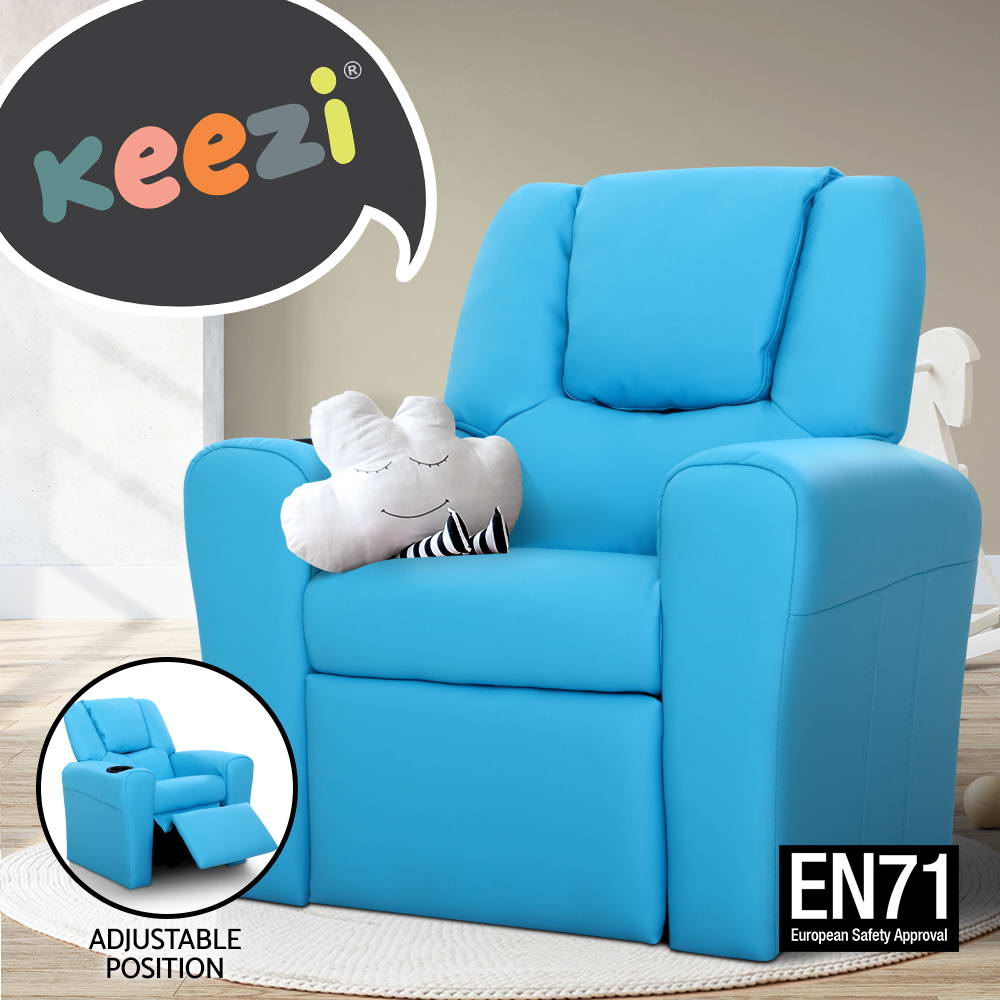 Kid Recliner Sofa Children Kids Lounge Chair Leather Arms