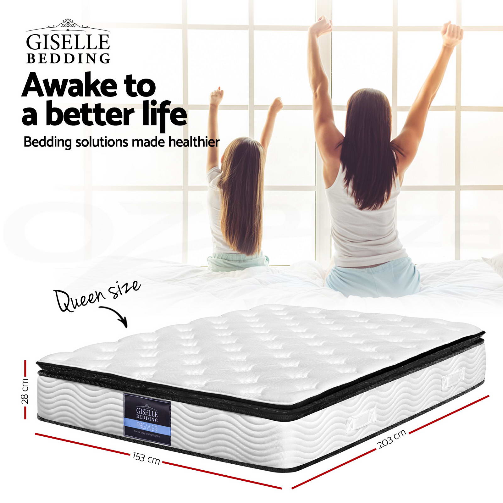 Size Of A King Single Bed Giselle Bedding Mattress Queen Double King Single Size