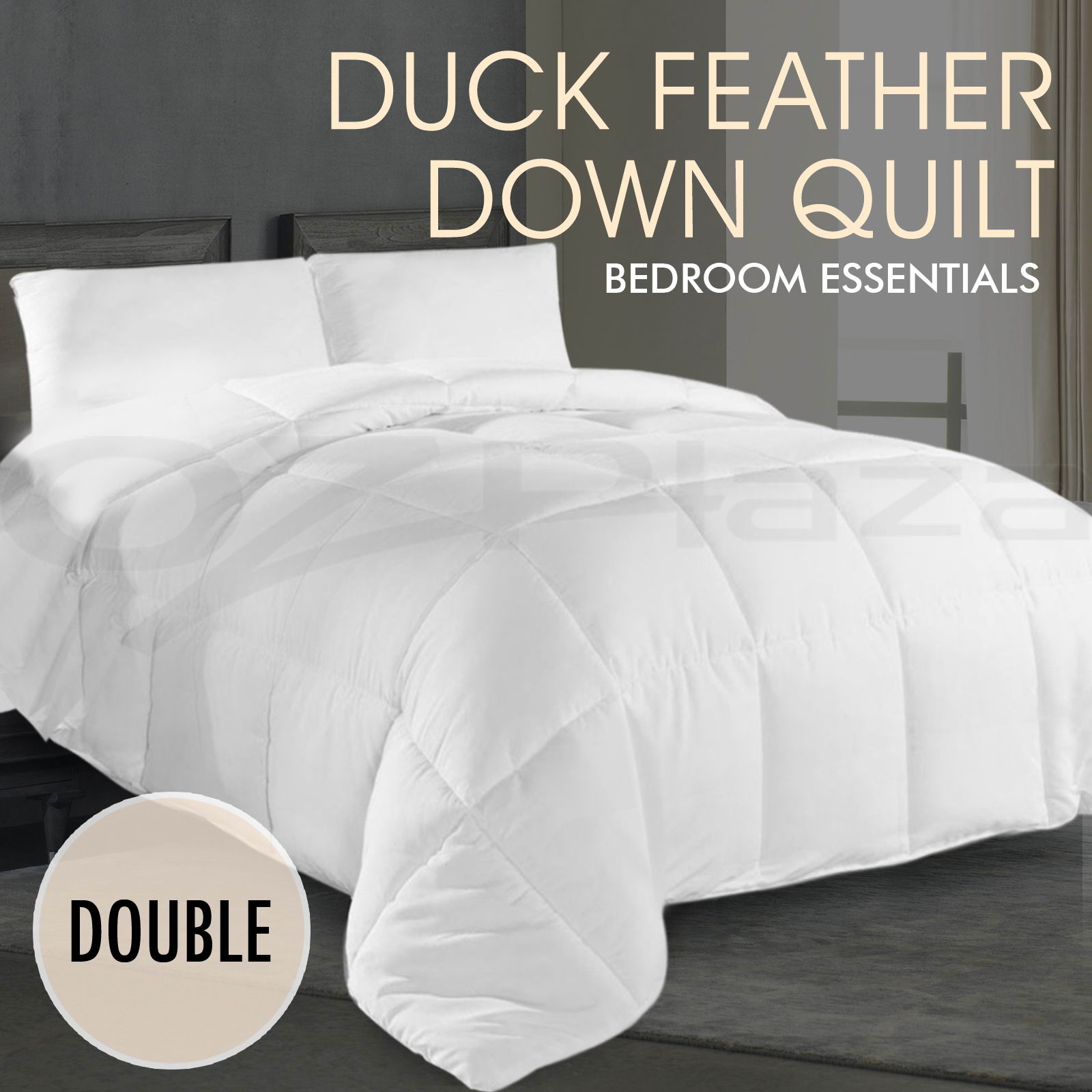 Duck Feather Doona 100 Duck Down Feather Quilt 350gsm All Season Duvet