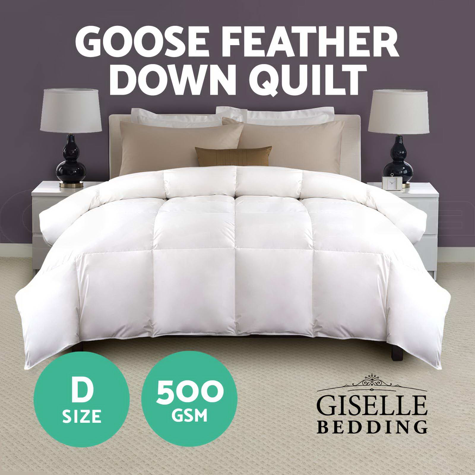 Duck Feather Doona 500gsm Goose Down Feather Quilt Blanket Duvet Winter Duck