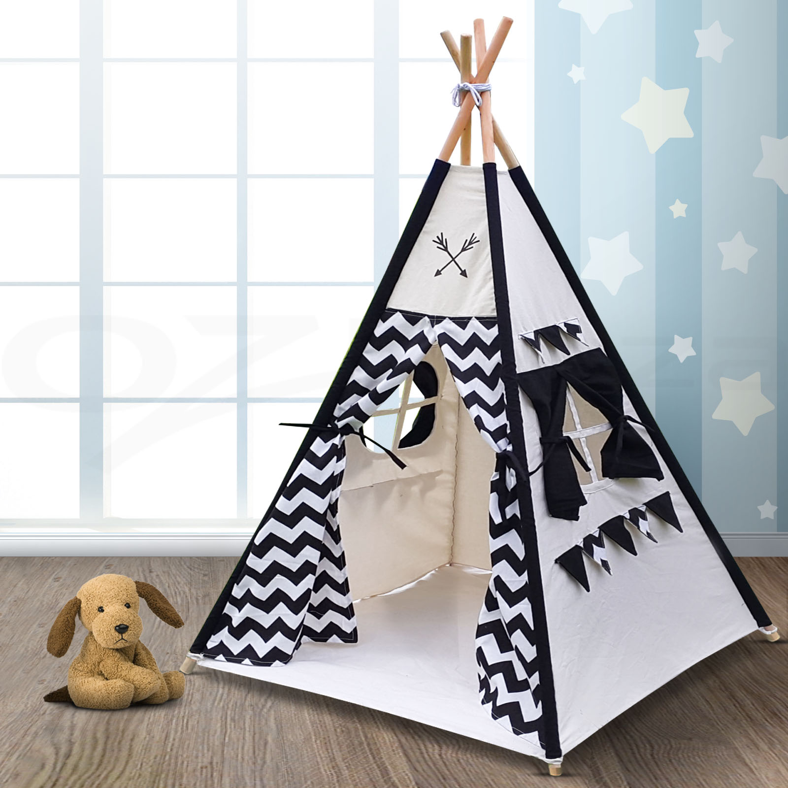 Kids Teepee Australia Kids Teepee Tent Children Home Canvas Pretend Play