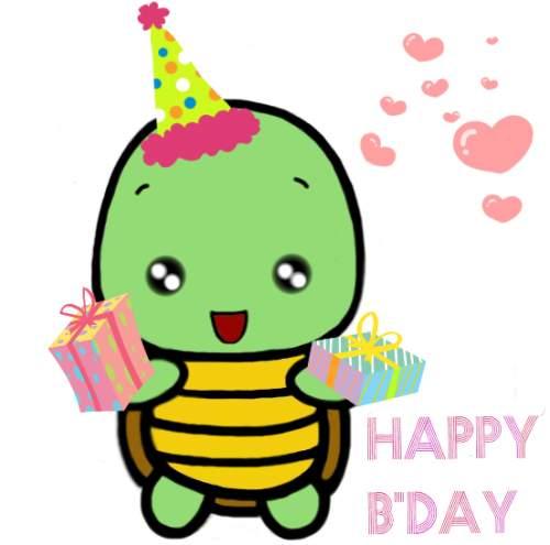 Happy Birthday With Cute Turtle Free Happy Birthday eCards 123