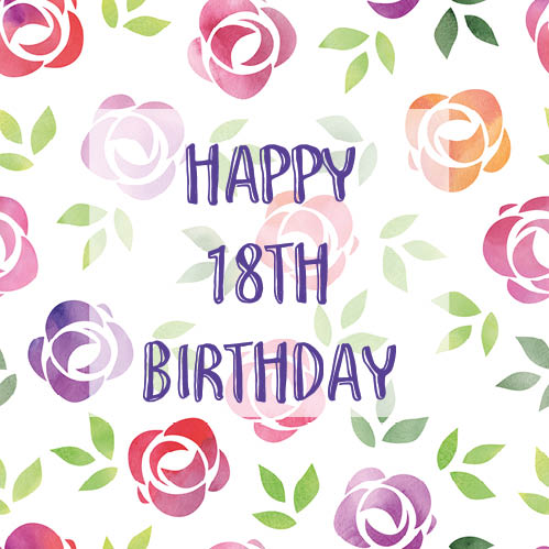 Happy Bday Wallpaper With Quotes Colorful Floral 18th Birthday Card Free Milestones Ecards