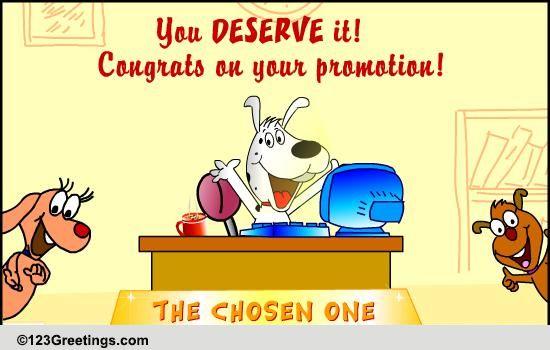congratulation promotion card