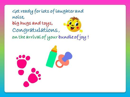 Congratulations On The Arrival Free New Baby eCards, Greeting