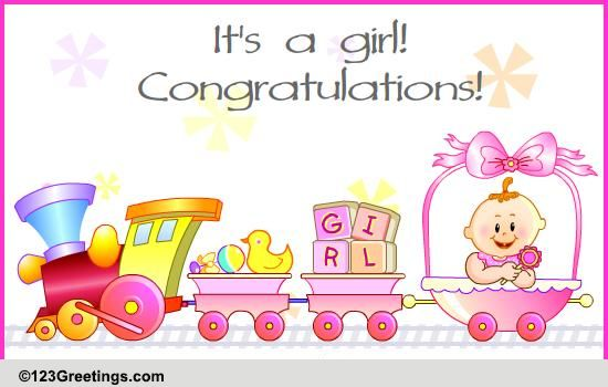 It Is A Baby Girl Free New Baby eCards, Greeting Cards 123 Greetings