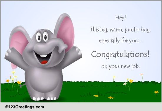 Congratulations New Job Cards, Free Congratulations New Job Wishes