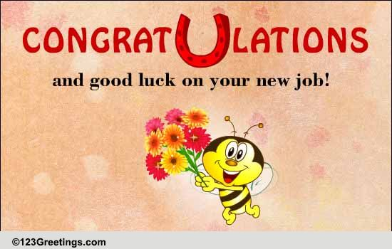 Congrats And Good Luck! Free New Job eCards, Greeting Cards 123