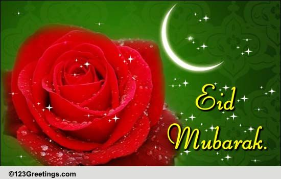 Birthday Greetings Please Say Eid Mubarak With Flowers. Free Floral Wishes Ecards