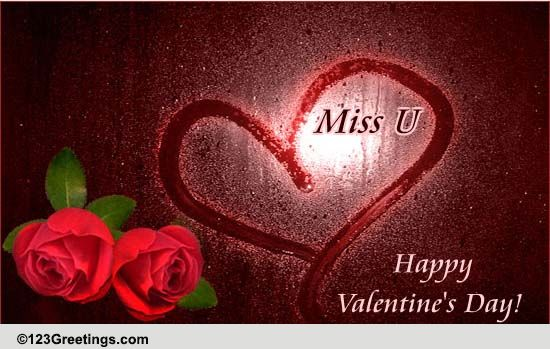 Cute Love Quotes For Valentines Cards Missing U On Valentine 39;s Day Free Miss You Ecards