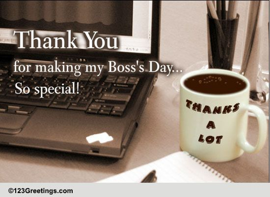 thank you card to boss