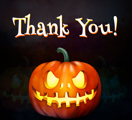 Cute Lovers Wallpapers With Quotes Thank You Halloween Greeting Free Thank You Ecards