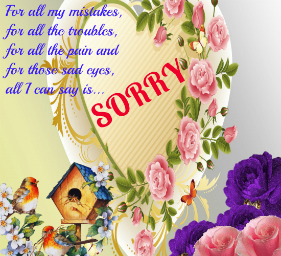 From My Heart Free I Am Sorry eCards, Greeting Cards 123 Greetings - apology card messages