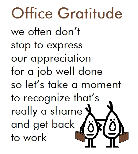 Office Gratitude - A Thank You Poem Free At Work eCards, Greeting