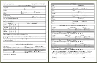 Blank Job Application Form Samples Download Free Forms Start Your Own Small Business With Professional Business