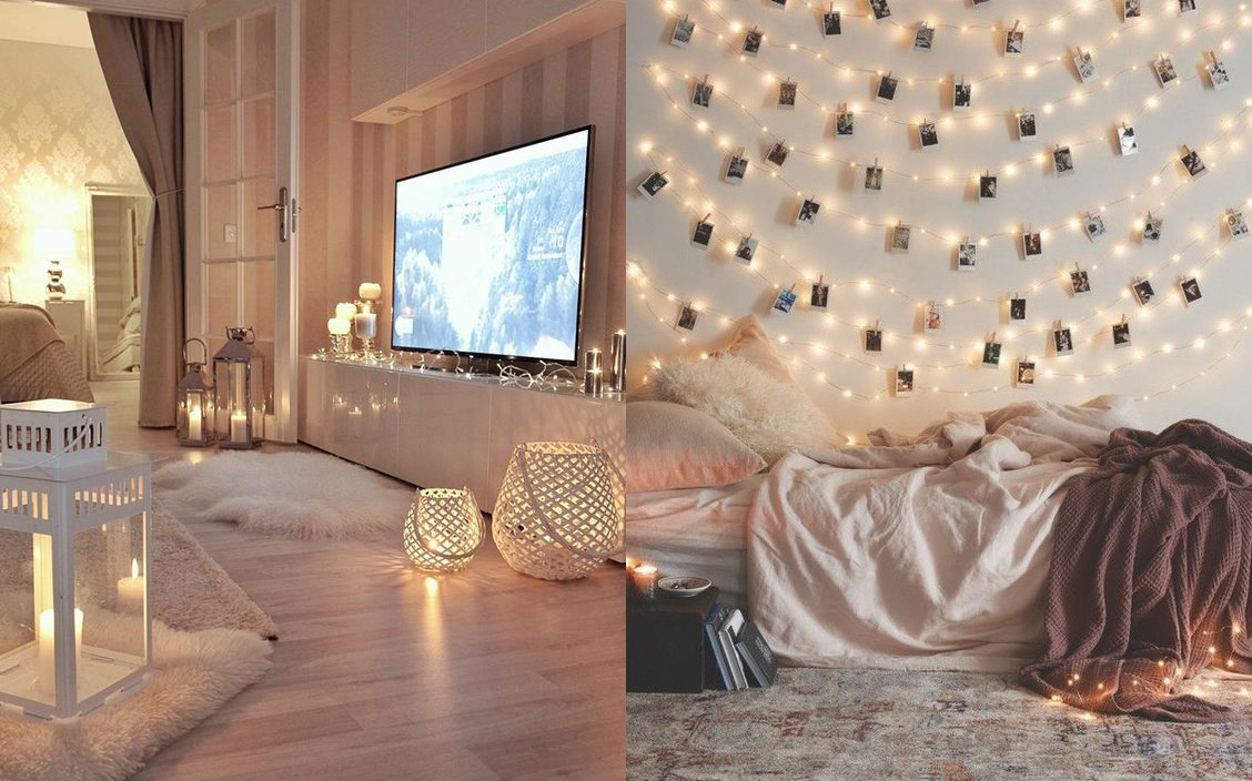 Luces Dormitorio 17 Ideas Para Decorar La Casa Con Guirnaldas De Luces Sin Que Sea