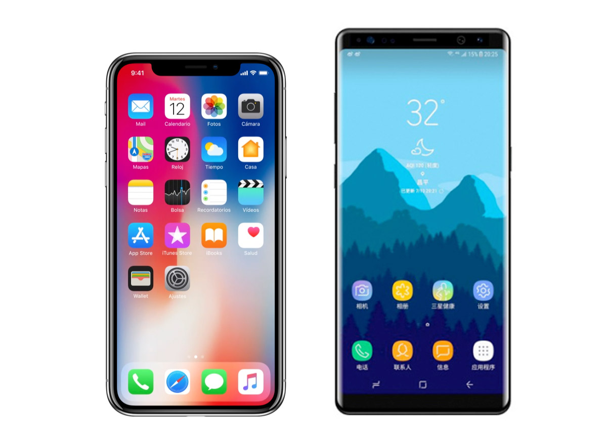 Comprar Moviles Libres Al Mejor Precio Iphone X Vs Samsung Galaxy Note 8 Comparativa De