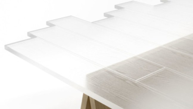 Nendo Transparent Table Lede