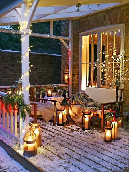 17 ideas para decorar la puerta de tu casa esta Navidad - Decoracion Navidea Para Exteriores De Casas