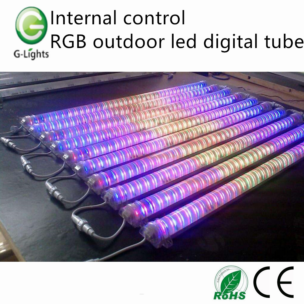 Exterior Led Tube Lights Internal Control Rgb Outdoor Led Digital Tube China Manufacturer