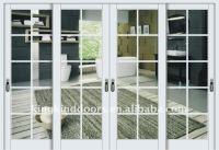 sliding aluminum frame glass door KKD