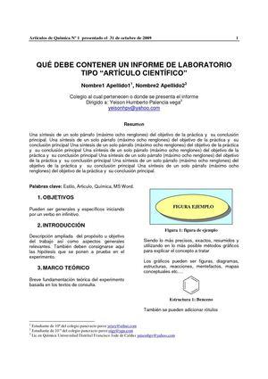 Calaméo - formato informe como articulo cientifico - formato de informe escrito