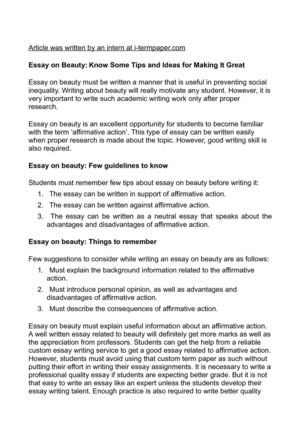 Calaméo - Essay on Beauty Know Some Tips and Ideas for Making It Great
