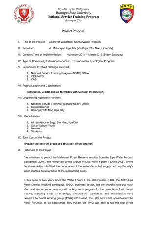 Calaméo - nstp proposal format - project proposal example