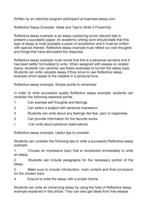 Calaméo - Reflective Essay Example Ideas and Tips to Write It