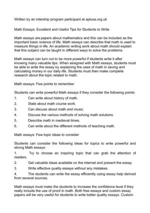 Calaméo - Math Essays Excellent and Useful Tips for Students to Write
