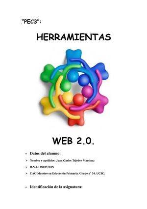 Calaméo - Portada e Índice Trabajo PEC3 Herramientas Web 20 CAG