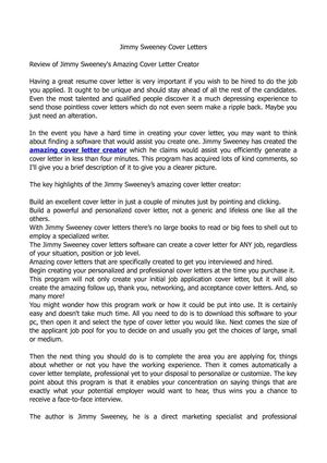 Calaméo - Jimmy Sweeney Cover Letters - Should You Send A Cover Letter