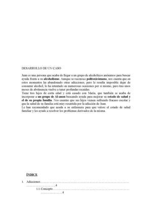 Calaméo - Informe escrito caso 1 Alcoholismo - formato de informe escrito