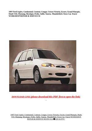 Calaméo - 1997 Ford Aspire, Continental, Contour, Cougar, Crown Victori